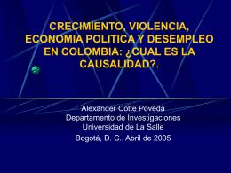 Cuál es la Causalidad? (Universidad de La Salle