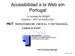 La Accesibilidad en Portugal, presentación en PowerPoint