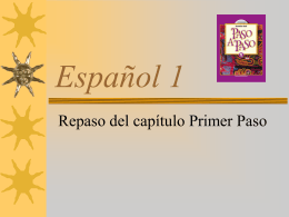 Español 1 - OpenStudy