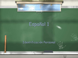 Español 1 - Chittenango Central Schools