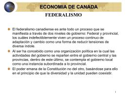 federalismo economia de canada