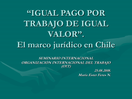 """""""IGUAL PAGO POR TRABAJO DE IGUAL VALOR"""". El marco jurídico"""