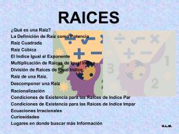 Multiplicación de Raíces de Igual Indice.