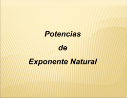 Potencias de exponente natural