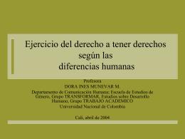 Diferencias humanas y ejercicio del derecho a tener derechos