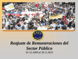 Reajuste de remuneraciones del Sector Público 2008