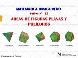 SESION 12 - AREAS DE FIGURAS PLANAS Y POLIEDROS