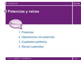 PP-U02-MATES1º POTENCIAS Y RAÍCES
