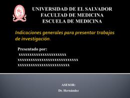 Indicaciones - Bienvenidos a la Facultad de Medicina