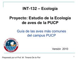 Aves de Lima - mi centro educativo
