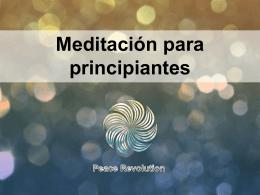 Meditación para principiantes Significado de la