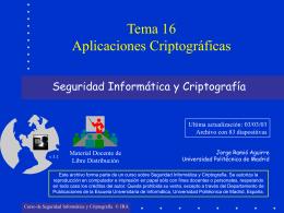 Aplicaciones Criptográficas - Departamento de Computación