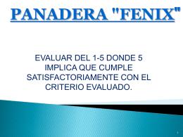 """panadera """"fenix - comunicacionmercadologicaAA-1"""