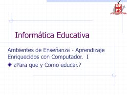 Presentación 1 - Para qué? y Cómo educar?