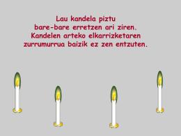 Cuatro velas - Kristau Eskola