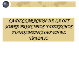 LA DECLARACION DE LA OIT SOBRE PRINCIPIOS