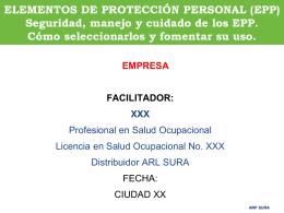 ELEMENTOS DE PROTECCIÓN PERSONAL (EPP