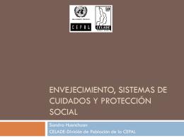 Envejecimiento de cuidades y protección social