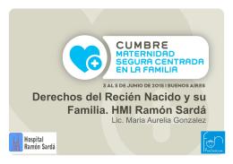Derechos del Recién Nacido y su Familia. HMI Ramón Sardá