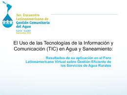 Eje 3-Resultados de su aplicación en el Foro Latinoamericano