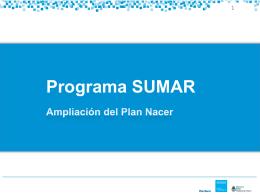 1| Programa Sumar