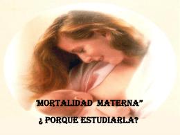 MORTALIDAD MATERNA 2