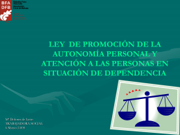 Ley de Dependencia (Presentación Power Point)