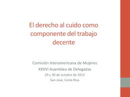 La agenda hemisférica. Lylian Mires, Experta Independiente