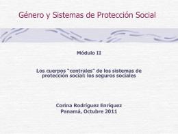 de los sistemas de protección social