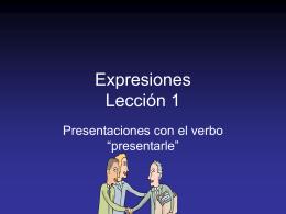 Presentarle – Lección 1
