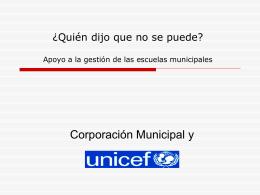 Apoyo a la gestión de las escuelas municipales