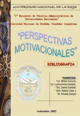 """UNIVERSIDAD NACIONAL DE LA RIOJA """"PERSPECTIVAS"""
