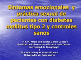 Síntomas emocionales y práctica sexual de pacientes con diabetes
