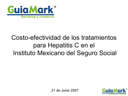 Evaluación económica del tratamiento farmacológico de