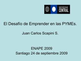 Se adjunta presentación de Juan Carlos Scapini