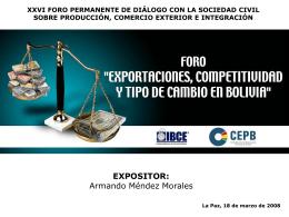 exportaciones, competitividad y tipo de cambio
