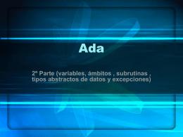 Tipos abstractos de datos en Ada