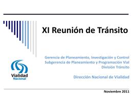Foro de Tránsito - Dirección Nacional de Vialidad