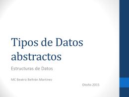 Tipos de Datos Abstractos - Beatriz Beltrán Martínez
