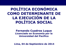 Política económica como determinante de la