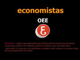 Economistas OEE a tu servicio - Consejo General de Colegios de