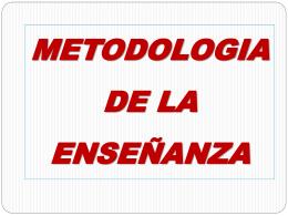 Metodología  - Direccion General de Personal
