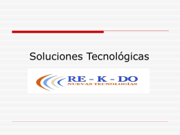 Soluciones tecnológicas Valdisme - Re-k-do