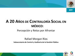 1 A 20 ANOS DE LA CONTRALORIA SOCIAL
