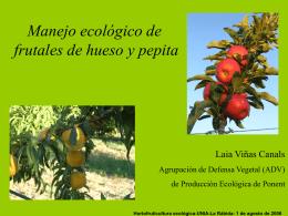 SANITAT VEGETAL EN AGRICULTURA ECOLÒGICA