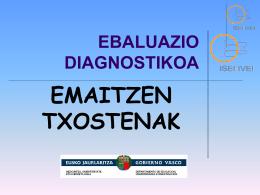 Evaluaciones de diagnóstico
