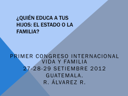 File - I Congreso Internacional Vida y Familia