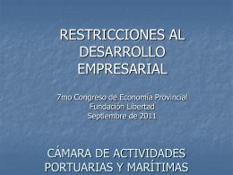 Infraestructura y los puertos del Gran Rosario Abril de 2011