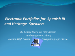 Electronic Portfolios for Spanish III Students