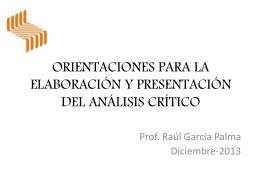 ORIENTACIONES PARA LA ELABORACIÓN Y PRESENTACIÓN DEL ANÁLISIS_2014
